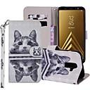 お買い得  Galaxy A シリーズ ケース/カバー-ケース 用途 Samsung Galaxy A5(2018) / A6 (2018) / A6+ (2018) ウォレット / カードホルダー / スタンド付き フルボディーケース 猫 ハード PUレザー