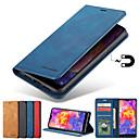 halpa Galaxy S -sarjan kotelot / kuoret-Etui Käyttötarkoitus Samsung Galaxy Galaxy S10 / Galaxy S10 Plus Korttikotelo / Tuella / Magneetti Suojakuori Yhtenäinen Kova PU-nahka varten S9 / S9 Plus / S8 Plus