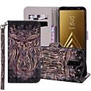 رخيصةأون حافظات / جرابات هواتف جالكسي A-غطاء من أجل Samsung Galaxy A5(2018) / A6 (2018) / A6+ (2018) محفظة / حامل البطاقات / مع حامل غطاء كامل للجسم حيوان قاسي جلد PU