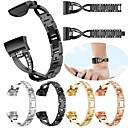 povoljno Remenje za Fitbit satove-Pogledajte Band za Fitbit Charge 3 Fitbit Dizajn nakita Nehrđajući čelik Traka za ruku