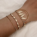 cheap Bracelets-3pcs Women's Vintage Bracelet Bracelet Earrings / Bracelet Layered Arrow Classic Vintage Ethnic Fashion Boho Alloy Bracelet Jewelry Gold For Daily School Street Holiday Festival / Pendant Bracelet