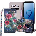 رخيصةأون حافظات / جرابات هواتف جالكسي S-غطاء من أجل Samsung Galaxy S9 / S9 Plus / S8 Plus محفظة / حامل البطاقات / مع حامل غطاء كامل للجسم زهور قاسي جلد PU