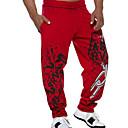 baratos Camisetas & Regatas Masculinas-Homens Activo Calças Esportivas Calças - Sólido Preto Vermelho XL XXL XXXL