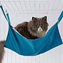 رخيصةأون مستلزمات واستمالة-قطط الأسرّة قماش اكسفورد حيوانات أليفة بطانيات لون سادة المحمول دافئ ناعم أزرق زهري للحيوانات الأليفة