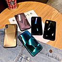 رخيصةأون أغطية أيفون-غطاء من أجل Apple iPhone XS / iPhone XR / iPhone XS Max مرآة غطاء خلفي لون سادة قاسي زجاج مقوى