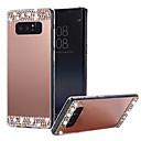 رخيصةأون إكسسوارات سامسونج-غطاء من أجل Samsung Galaxy Note 9 / Note 8 مرآة غطاء خلفي لون سادة قاسي الكمبيوتر الشخصي / جل السيليكا