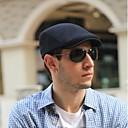 رخيصةأون قبعات الرجال-كل الفصول رمادي غامق أزرق البحرية رمادي فاتح قبعة مرنة لون سادة للجنسين قطن كتان,الثلاثينات