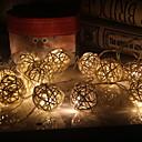ieftine Machiaj & Îngrijire Unghii-3.5m Fâșii de Iluminat 20 LED-uri Alb Cald Decorativ Baterii AA alimentate 1set