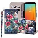 Недорогие Чехлы и кейсы для Galaxy J5(2017)-Кейс для Назначение SSamsung Galaxy J8 (2018) / J7 (2017) / J7 (2018) Кошелек / Бумажник для карт / со стендом Чехол Цветы Твердый Кожа PU