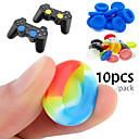 cheap PS4 Accessories-10 Rubber Silicone Game Controller Thumb Stick Grips for PS4 Ultra-thin Xbox One Xbox 360 Wii U Controller
