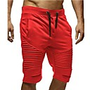 ieftine Pantaloni Bărbați-Bărbați De Bază Mărime EU / US Pantaloni Chinos / Pantaloni Sport Pantaloni - Mată Multistratificat Roșu-aprins Gri Închis Kaki L XL XXL / Cordon