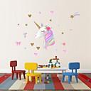 رخيصةأون أدوات الحمام-1 قطعة ملصقا الزخرفية للأطفال غرفة الطفل ملصقات الحائط يونيكورن