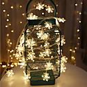 baratos Fitas e Mangueiras de LED-3M Cordões de Luzes 20 LEDs Branco Quente Decorativa Baterias AA alimentadas 1conjunto