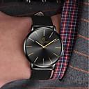 ราคาถูก นาฬิกาสำหรับผู้ชาย-สำหรับผู้ชาย นาฬิกาตกแต่งข้อมือ นาฬิกาอิเล็กทรอนิกส์ (Quartz) หนัง ดำ / น้ำตาล นาฬิกาใส่ลำลอง ระบบอนาล็อก แฟชั่น ที่เรียบง่าย - ดำ / น้ำเงิน Black / Gold White / สีเบจ หนึ่งปี อายุการใช้งานแบตเตอรี่