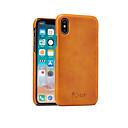 رخيصةأون أغطية أيفون-غطاء من أجل Apple iPhone XS / iPhone XR / iPhone XS Max ضد الصدمات غطاء خلفي لون سادة قاسي جلد PU