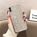 abordables Coques d'iPhone-Coque Pour Apple iPhone XS Max / iPhone 6 Strass / Plaqué Coque Brillant Flexible Le gel de silice pour iPhone XR / iPhone XS Max / iPhone X