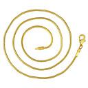 ieftine Coliere-Bărbați Lănțișoare Clasic Ieftin Clasic De Bază Modă Alamă Placat Auriu Auriu 46,56,61,66 cm Coliere Bijuterii 1 buc Pentru Zilnic Muncă