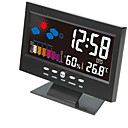 economico Sistemi audio per auto-orologio digitale LCD lcd orologio temperatura umidità orologio orologio termometro igrometro previsioni meteo orologio da tavolo