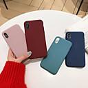 olcso iPhone tokok-Case Kompatibilitás Apple iPhone X / iPhone XS Max Ütésálló Fekete tok Egyszínű Puha Silica Gel mert iPhone XS / iPhone XR / iPhone XS Max