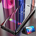 رخيصةأون حافظات / جرابات هواتف جالكسي J-غطاء من أجل Samsung Galaxy On7(2016) / On5(2016) / J8 (2018) مع حامل / تصفيح / مرآة غطاء كامل للجسم لون سادة قاسي جلد PU