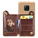 رخيصةأون Huawei أغطية / كفرات-غطاء من أجل Huawei Huawei P20 / Huawei P20 Pro / Huawei P20 lite محفظة / حامل البطاقات / ضد الصدمات غطاء خلفي لون سادة قاسي جلد PU