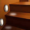 abordables Lentes para Móvil-1pc Luz de noche LED Blanco Cálido Pilas AAA alimentadas Seguridad / Sensor de infrarrojos / Sensor del cuerpo humano Batería