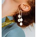 preiswerte Barfußsandalen-Damen Tropfen-Ohrringe Münze Einfach Europäisch Modisch Ohrringe Schmuck Gold / Silber Für Party Jahrestag Geschenk Alltag Bühne 1 Paar