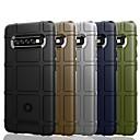 رخيصةأون أغطية أيفون-غطاء من أجل Samsung Galaxy S9 / S9 Plus / S8 Plus ضد الصدمات / ضد الغبار / مقاوم للماء غطاء خلفي لون سادة / نموذج هندسي ناعم TPU