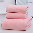 رخيصةأون الستائر-جودة فائقة مجموعة مناشف الحمام, لون سادة صوف مخمل 100% 1 pcs