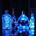 رخيصةأون مصابيح ليد مبتكرة-0.75 متر زجاجة النبيذ الفلين سلسلة أضواء 15 المصابيح smd 0603 دافئ أبيض / أبيض / متعدد الألوان للماء / بطاريات الزفاف مهرجان حزب ديكور بدعم 1 قطعة