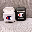billige Telefontilbehør-airpods veske pc ensfarget nydelig tegneserie mønster støtsikkert beskyttelsesdeksel bærbart for airpods1& airpods2 (airpods ladetaske ikke inkludert)
