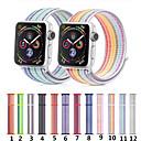 Недорогие Кейсы для iPhone-для яблочных часов серии 4/3/2/1 нейлоновая спортивная петля iwatch ремешок с ремешком 38/40/42 / 44мм