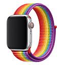 رخيصةأون أساور ساعات هواتف أبل-حلقة رياضية لسلسلة حزام ساعة أبل 4 3 2 1 حزام عاكس ل iwatch النايلون المنسوجة تنفس طبقة مزدوجة