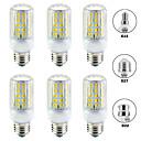 رخيصةأون أضواء LED ذرة-6PCS 15 W أضواء LED ذرة 1500 lm E14 B22 E26 / E27 T 96 الخرز LED SMD 5730 تصميم جديد أبيض دافئ أبيض 220-240 V 110-120 V