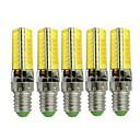 رخيصةأون أضواء LED ذرة-5pcs 3 W أضواء LED ذرة 170-200 lm E14 72 الخرز LED SMD 5730 تصميم جديد ديكور محبوب أبيض دافئ أبيض كول 12-24 V
