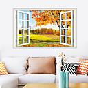 رخيصةأون ملصقات ديكور-أزياء ملصقات الحائط القيقب - ملصقات الحائط الطائرة الزهور / النباتية / المناظر الطبيعية غرفة الدراسة / مكتب / غرفة الطعام / المطبخ