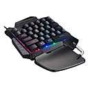 cheap Mouse Keyboard Combo-USB Wired Single Handed Keyboard with Wrist Rest Backlit Gaming Keyboard