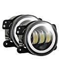 رخيصةأون مصابيح الضباب للسيارات-2 قطعة / المجموعة 4 بوصة 30 واط 6000 كيلو ل jeep بقيادة الملاك العين مصباح الضباب package2pcs