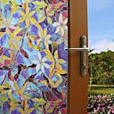 رخيصةأون الستائر-أزياء لون النباتات نافذة فيلم&أمبير. ملصقات الديكور الزهور / نمط هندسي / شخصية pvc (بولي فينيل كلوريد) نافذة ملصقا / مضحك