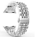 billige Apple Watch-remmer-urbånd for epleklokke serie 4/3/2/1 eple smykkedesign armbåndstropp i rustfritt stål