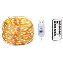 cheap LED Strip Lights-10m Light Sets / String Lights 100 LEDs SMD 0603 1 13Keys Remote Controller Warm White / White / Multi Color Waterproof / USB / Party 5 V / USB Powered 1pc