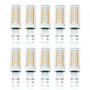 ieftine Becuri LED Corn-LOENDE 10pcs 7 W Becuri LED Corn Becuri LED Bi-pin 800 lm G9 T 78 LED-uri de margele SMD 2835 Intensitate Luminoasă Reglabilă Alb Cald Alb 110-130 V 200-240 V