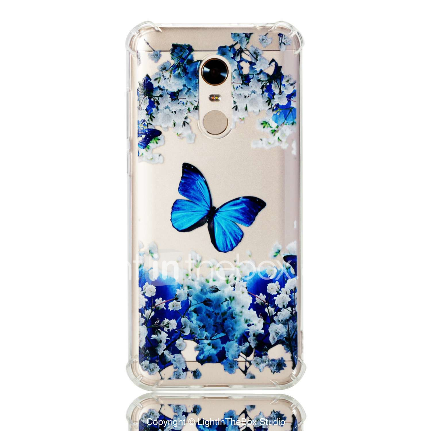 Case For Xiaomi Redmi 5 Plus Mi 5x Shockproof Back Cover Butterfly