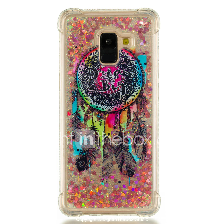 761b9ca41f0df0 Case For Samsung Galaxy A8 Plus 2018 / A8 2018 Shockproof / Flowing Liquid  / Pattern Back Cover Dream Catcher / Glitter Shine Soft TPU for A3(2017) ...