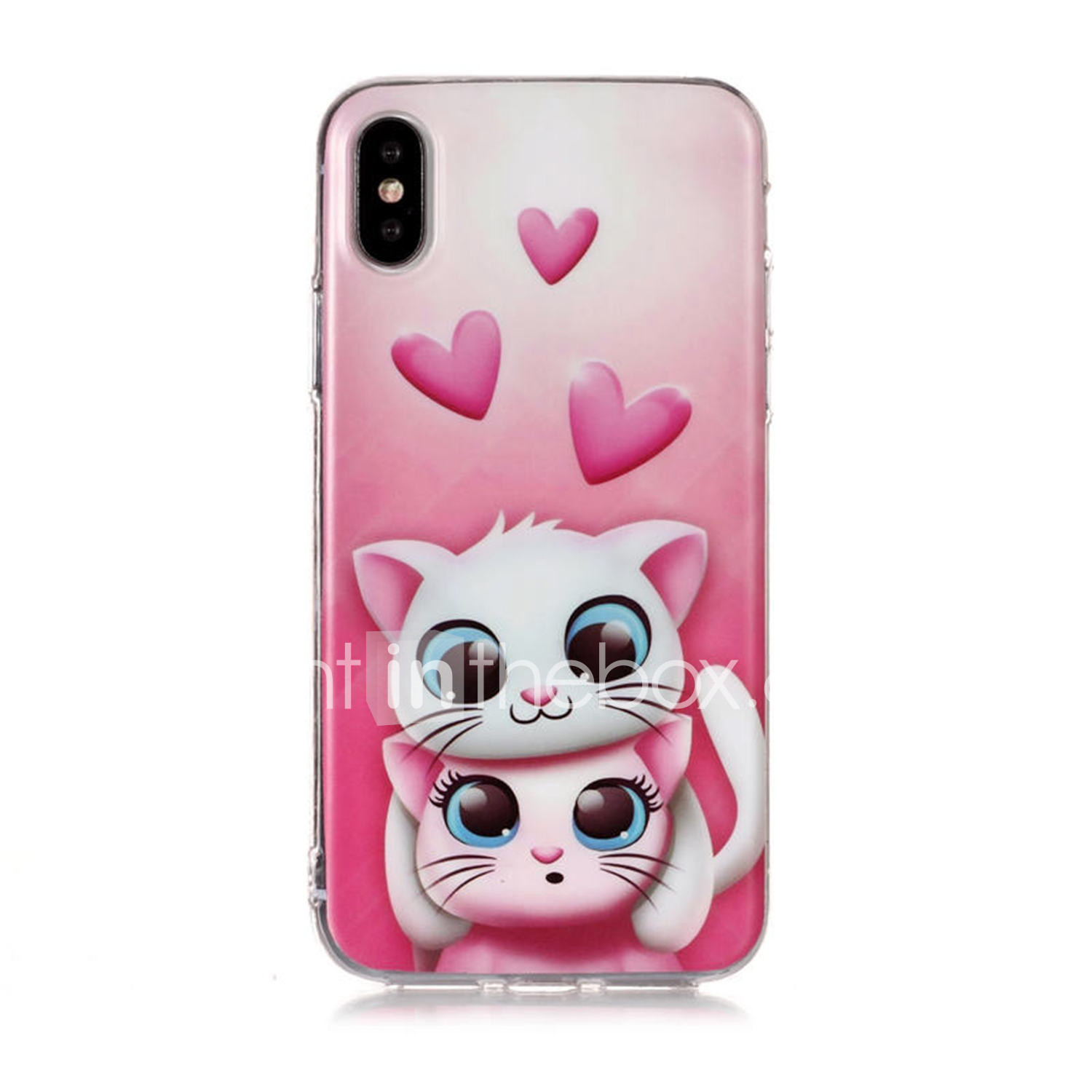 official photos 94e9e 6ee2f Case For Apple iPhone XS / iPhone XR / iPhone XS Max Pattern Back Cover Cat  / Heart Soft TPU