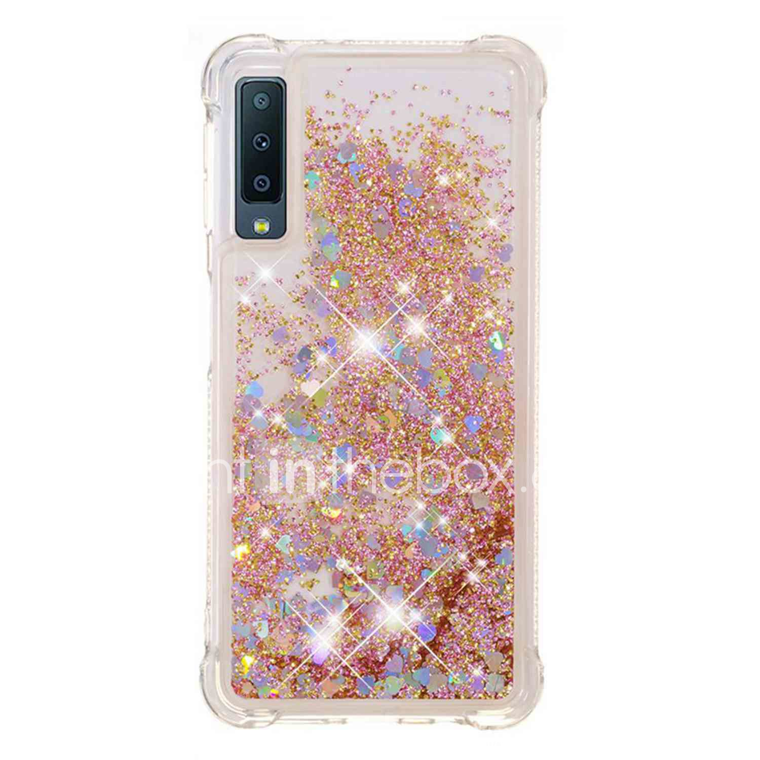 74d1b4dd647e98 Case For Samsung Galaxy A8 Plus 2018 / A7(2018) Shockproof / Flowing Liquid  / Transparent Back Cover Glitter Shine Soft TPU for A6 (2018) / A6+ (2018)  ...