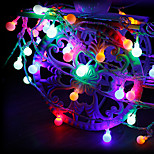 billiga -1 uppsättning ledstränglampa 20 lätta små gula magiska kula nattlampor med batterilampor