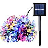 billiga -7m Ljusslingor 50 lysdioder Multifärg Sol / Dekorativ Soldriven 1set