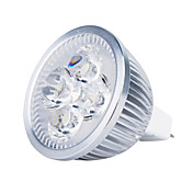 3000 lm GU5.3(MR16) LED-spotpærer MR16 4 leds Høyeffekts-LED Varm hvit DC 12 V