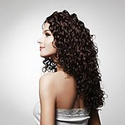 사용 가능한 캡이 긴 최고급 품질의 합성 곱슬 머리 가발 여러 색상